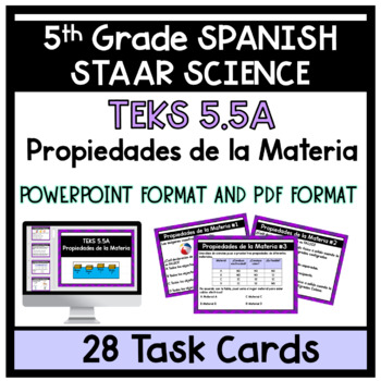 Propiedades de la Materia-Properties of Matter (5th Grade)