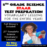 5th Grade STAAR Science Weekly Vocabulary Activities, Writ