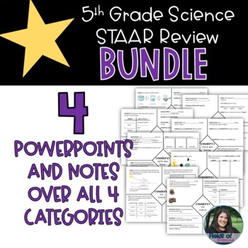 5th Grade STAAR Science Review Bundle by Fields of ...