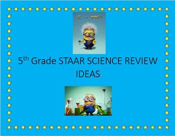 5th Grade STAAR Science Review Ideas and Activities