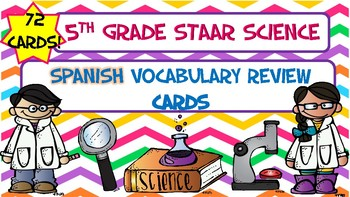 5th Grade STAAR Science Vocabulary Cards