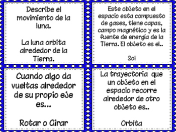 5th Grade STAAR Science Vocabulary Cards (SPANISH)