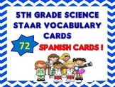5th Grade STAAR Science SPANISH Vocabulary Cards