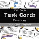 5th GRADE MATH STAAR TASK CARDS {Fractions} TEKS 5.3H 5.3I 5.3J 5.3L
