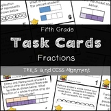 5th GRADE MATH STAAR TASK CARDS {Fractions} TEKS 5.3H 5.3I 5.3J 5.3L