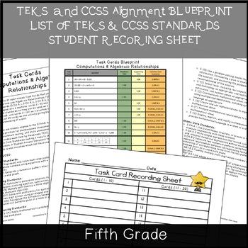 5th Grade TASK CARDS {Computations & Algebraic Relationships} TEKS 5.3ABC,5.4BCD