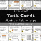 5th Grade Math STAAR Task Cards Operations & Algebraic Reasoning TEKS Aligned
