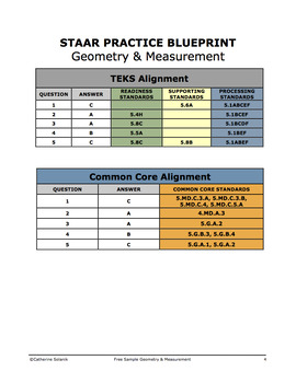 FREE 5th Grade Math STAAR Practice {Geometry and Measurement} Test Prep Sample