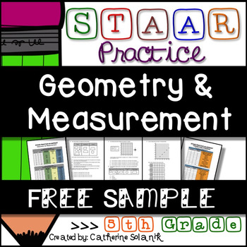 FREE 5th Grade Math STAAR Practice {Geometry and Measureme