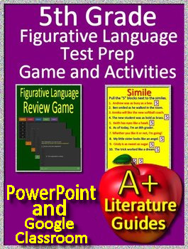 5th Grade Test Prep - Figurative Language Game and Google Activities
