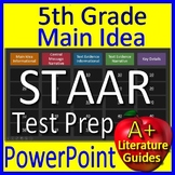 5th Grade STAAR Test Prep Main Idea and Text Evidence Game Reading Review