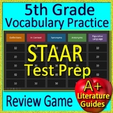 5th Grade STAAR Test Prep Vocabulary and Figurative Language Game Reading Review