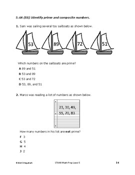 5th Grade STAAR Test Prep Workbook