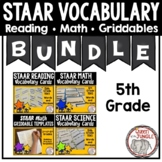 5th Grade STAAR Vocabulary - Reading, Math and Science