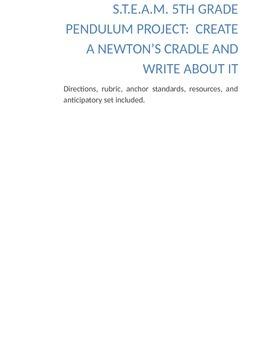 5th Grade STEAM Pendulum Project:  Create a Newton's Cradl