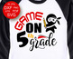 5th Grade SVG School shirts designs Teacher life svg files for Cutting Machines