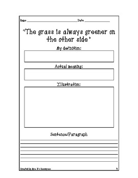 5th Grade Sayings, Phrases, and Idioms Unit 2