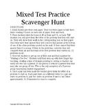 5th Grade Math Scavenger Hunt / Circuit Bundle