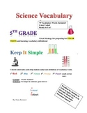 """5th Grade Scicence Vocabulary """"STAAR READY!!!!"""""""