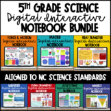 5th Grade Scienc Digital Interactive Notebook (All year) NC Sci Standards