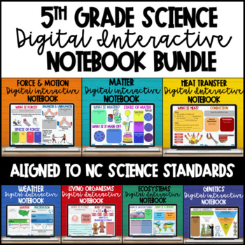 5th Grade Science Digital Interactive Notebooks - NC Essential Science Standards