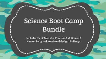 Science Heat Transfer/Human Body/Force and Motion Bundle (Boot Camp)