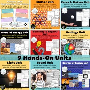 5th Grade Science Bundle- ENTIRE YEAR!