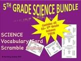 5th Grade Science Bundle: Science Vocabulary Scramble Games