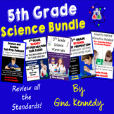 5th Grade Science Bundle, Test-Prep, Task Cards, Vocabular