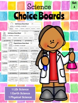 5th Grade Science Choice Boards  **EDITABLE**