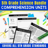 5th Grade Science Comprehension Units | Science Sub Plans