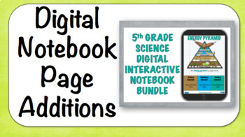 5th Grade Science Digital Interactive Notebook -New Page Creation
