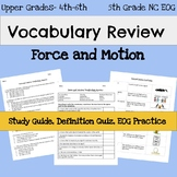 5th Grade Science EOG Vocabulary - Force and Motion