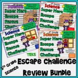 5th Grade Science Escape Challenges Categories 1-4 Bundle