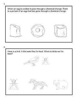 5th Grade Science Extended Standards Practice Test