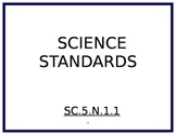 5th Grade Science Florida Standards