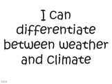 """Texas- 5th Grade Science """"I Can"""" Statements"""
