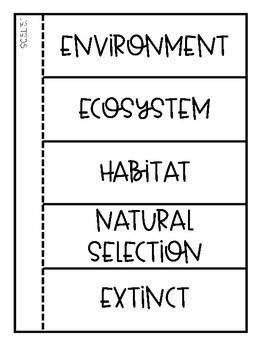 5th Grade Science Interactive Notebook: Animal Adaptations & Environment