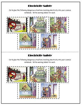 5th Grade Science: Interactive Notebook- Electrical Safety (Electricity)