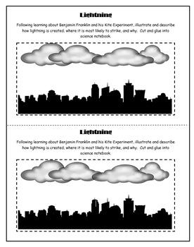 5th Grade Science: Interactive Notebook- Explaining Lightning
