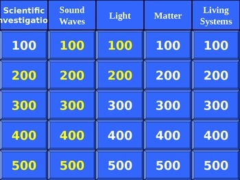 5th Grade Science Jeopardy