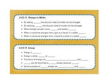 5th Grade Science Language Stems