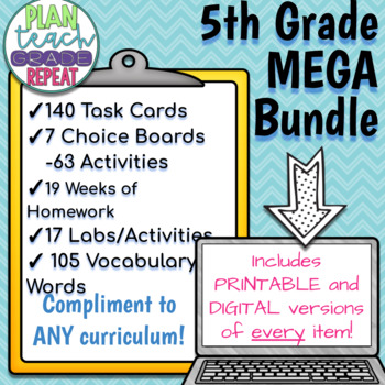 5th Grade Science MEGA Bundle