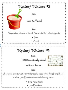 5th Grade Science: Mystery Mixtures Lab