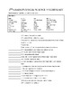 5th Grade Science Physical Science Vocabulary Review Packet - SSA Review