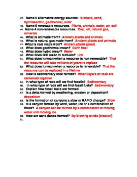 5th Grade Science Questions: I NEED TO KNOW WHAT???