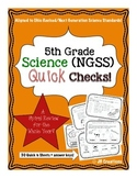 5th Grade Science Quick Check Spiral Review Set (NGSS/Ohio Model Standards)
