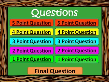 5th Grade Science Review - Are You Smarter Than a 5th Grader? PowerPoint Game