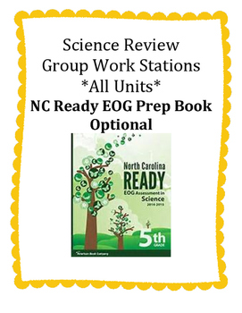 5th Grade Science Review Group Work Stations/Centers