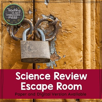 5th Grade Science STAAR Review Paper and Digital Escape Room